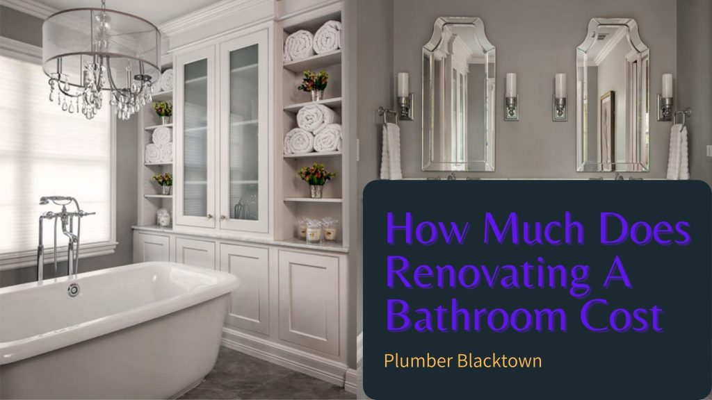 How Much Does Renovating A Bathroom Cost